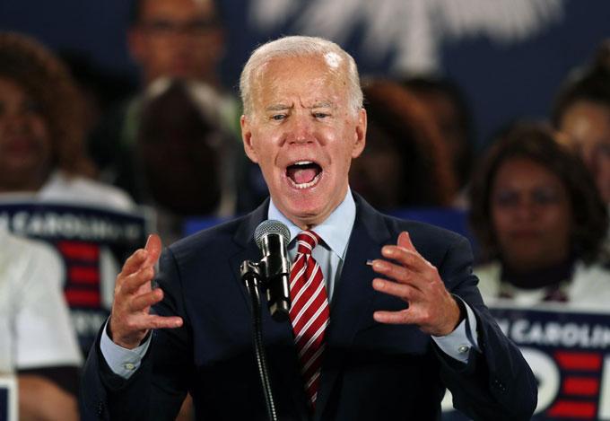 2020年の米大統領選に挑むバイデン