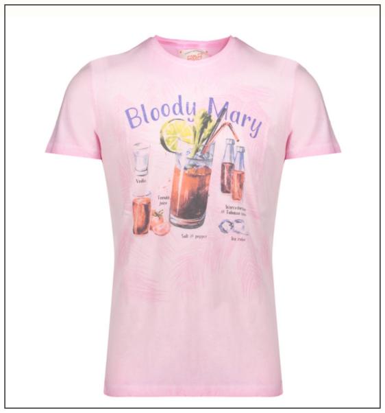 ピンクのBloody Mary Tシャツ
