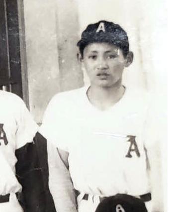 中学の軟式野球部時代の菅義偉