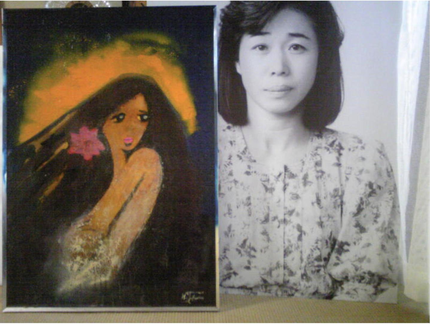 高須克弥院長が描いた高須シヅさんの肖像画