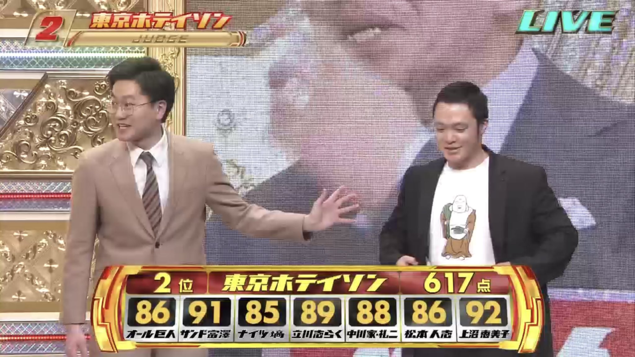 M-1で東京ホテイソン・ショーゴが着てるTシャツが可愛い