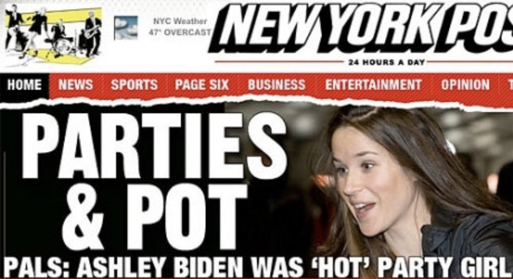 2009年 NYポストにてアシュリーがコカインを吸引する動画が流出