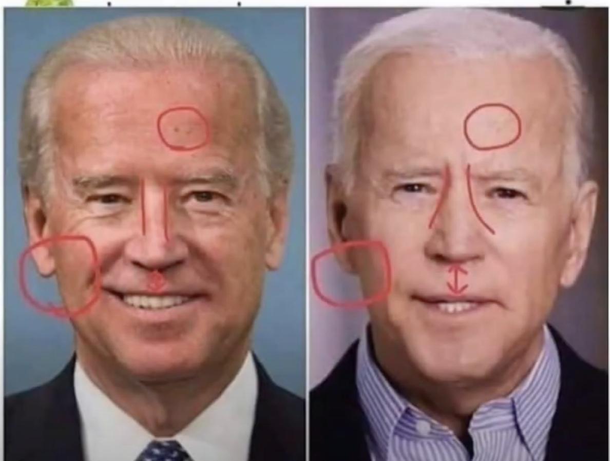 バイデンの鼻にも変化?