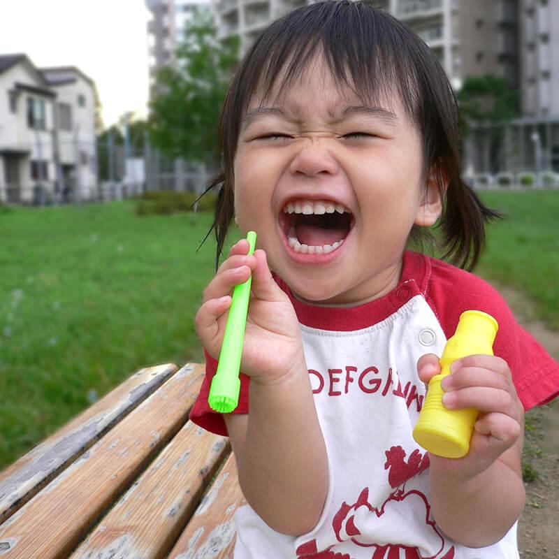 2歳の頃の奥森皐月