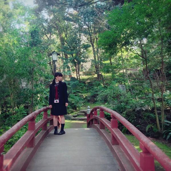奥森皐月の中学の制服?(奥森皐月LINEブログより)