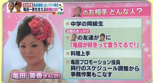 亀田興毅の嫁