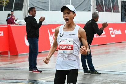 2018年 シカゴマラソンで大迫傑が日本新記録樹立