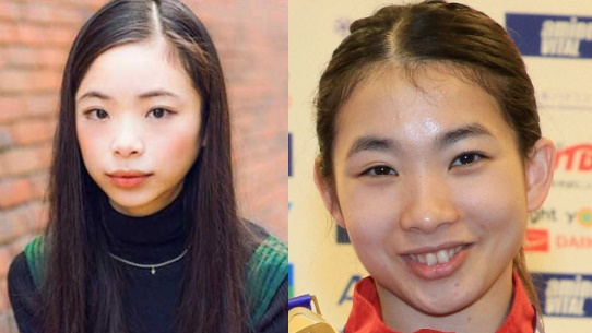 左:趣里 右: 松友美佐紀