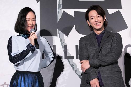 映画「億男」の舞台挨拶 黒木華と佐藤健