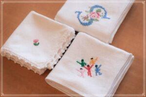 南沙良の刺繍のハンカチ