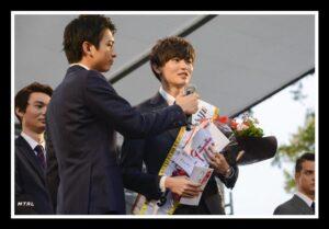 2019年慶応大学ミスターコンテストにて見事優勝した西垣匠