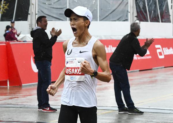2018年シカゴマラソンで日本新記録を樹立した大迫傑選手