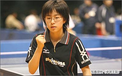 石川佳純 中学時代
