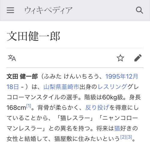 文田健一郎 猫好き Wikipedia