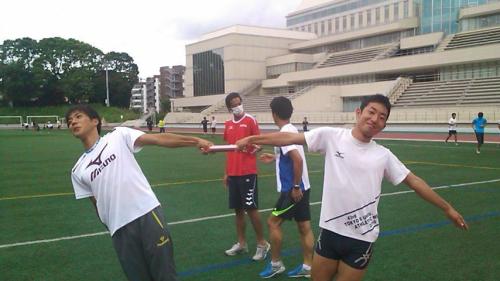 左:山縣亮太選手 右:本橋秀章さん